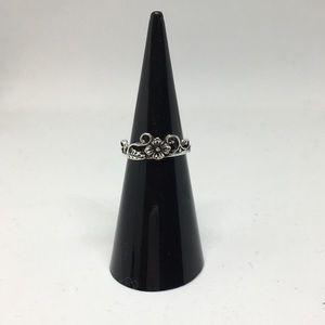 Jewelry - Flower garden vine design crown midi ring